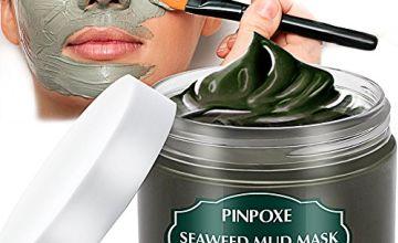 Blackhead Remover Mask, Blackhead Mask, Dead Sea Mud Mask, Acne face mask, Facial Mask, Seaweed Mask, Deep Cleaning Mask, Skin Mask with Algae, Against Impure Skin,Acne,Oily Skin,Blackheads,120g