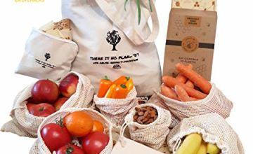 13pcs Organic Cotton Packaging Set | 4 Beeswax Wraps | 6 Pro