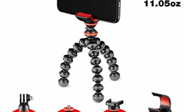 JOBY JB01571-BWW GorillaPod Starter Kit, Flexible Mini Tripod with Universal Smartphone Clamp, GoPro and Torch Mount Up to 325 g Payload