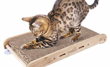 Pecute Cat Scratcher Scratching Boards With Non Slip, Kitty Scratching Pads Cat Lounger Catnip Included(43x23.8cm)