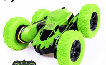 SGILE 4WD RC Stunt Car - 2.4Ghz Double Side 360° Flip Fast Truck for Kids