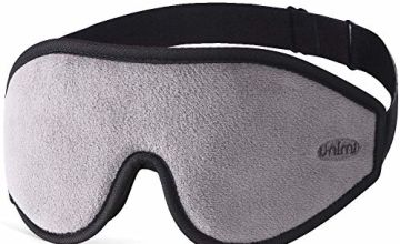Sleep Mask for Women & Men, Unimi Upgraded 3D Contoured Eye Mask for Sleeping, Ultra Soft Breathable Sleeping Eye Mask, 100% Blackout Eye Shades Blindfold for Complete Darkness