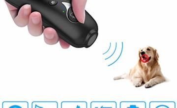 GSmade Barxbuddy,Petgentle, Anti Barking Device With Double Frequency Mode & Large Built-in Rechargable Battery,2 in 1 Effective Range of 17 Ft Pet Corrector,Red light Cat Toys
