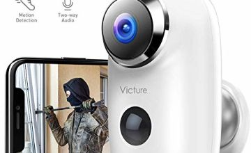 Victure 1080P Outdoor Rechargeable Battery Security Camera Wireless Home Surveillance WiFi Camera CCTV with PIR Motion Detection 2-way Audio Night Vision and IP65 Weatherproof