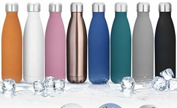 king do way Insulated Stainless Steel Water Vacuum Bottle Double-walled for Outdoor Sports Hiking Running, 500 ml /17 oz (Purple)