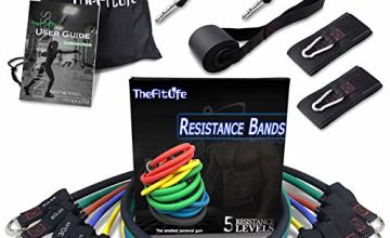 TheFitLife Exercise and Resistance Bands Set - Workout Tubes for Indoor and Outdoor Sports, Fitness, Suspension, Speed Strength, Baseball Softball Training, Home Gym, Yoga …