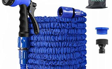 AILUZE 50FT Garden Hose,Expanding Garden Water Hose Pipe with 8 Function Spray Gun, 3 Times Expandable Watering Hose ,Flexible Magic Hose Anti-leakage Lightweight Easy Storage(Blue) (Blue-50FT)