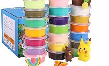 QMAY 24 Colors Air Dry Clay, Magic Clay Ultra Light Modelling Clay Non Toxic, Creative Art DIY Crafts for Kids Boys & Girls Gift
