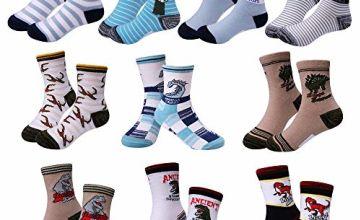 Boy Socks Age 4-9, Dinosaur cotton socks 4 5 6 7 8 9 Year Ol