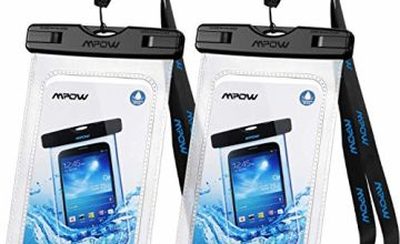 "Mpow Waterproof Phone Case, IPX8 Waterproof Phone Pouch Dry Bag with Portable Lanyard Compatible with iPhone 11/XS/XS Max/XR/X Galaxy S10/S9/S8 Up to 6.5"", Suit for Beach, Hiking, Travel 2 Pack"