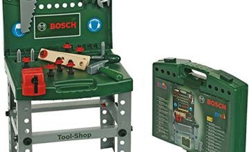 Theo Klein 8681 Bosch Tool Shop, Foldable Workbench with Accessories, Toy, Multi-Colored