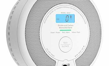 X-Sense 10-Year Battery Combination Smoke & Carbon Monoxide Alarm Detector with LCD Display, SC07