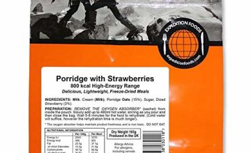 Expedition Foods Porridge with Strawberries (800kcal) - Freeze Dried Meal
