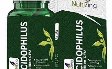 Probiotics for Adults - High Strength Lactobacillus Acidophilus 50bn CFU Powder - 120 tablets - Absorption Optimised - Made in UK, Vegan & Dairy Free by NutriZing