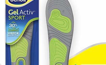 Scholl Insoles Men's Sport, Gel Active, UK Shoe Size 7-12