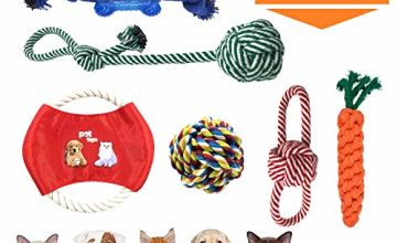 WALLE Dog Rope Toys Puppy Chew Toys Dog Interactive Toy Durable Cotton Rubber Gift Set Dog Teething Training for Small Dogs