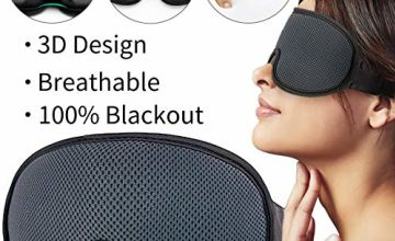 Eye Mask for Sleeping,Sleep mask,New Upgraded 3D Contoured Sleep Mask Men & Women,Ultra Soft Breathable with Adjustable Strap 100% Blackout Eye Shades Blindfold for Complete Darkness