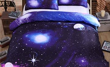 WONGS BEDDING Galaxy Duvet Cover Set