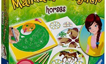 "Ravensburger 29742 9 ""Mandala-Designer 2in1 Horses Craft Set"