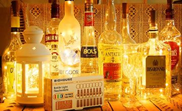 Bottle Lights with Cork, BIGHOUSE 16 Pack 2M 20 LEDs Wine Bottle Lights, Warm White Fairy Lights Battery Powered for Christmas, Party, Wedding, Table Decorations