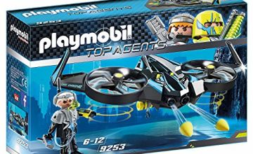 """Playmobil 9253"""" Top Agents Mega Drone with Firing Weapons Toy Set, Multi"""