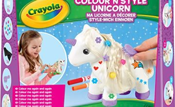 Save on Crayola Colour n Style Unicorn Craft Kit with Washable Felt Tip Colouring Pens and more