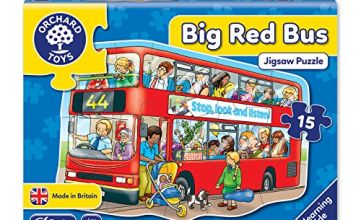 Orchard Toys Big Red Bus Floor Jigsaw