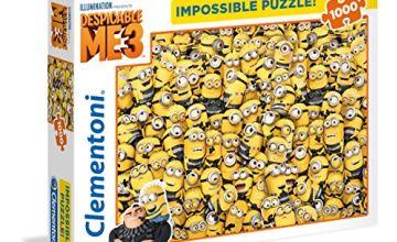 Clementoni 39408 Clementoni-39408-Impossible Puzzle-Despicable Me 3-1000 Pieces, Various