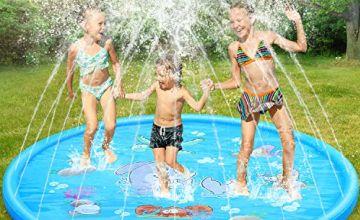 Dookey Sprinkle and Splash Play Mat, Summer Splash Play Mat Anti-Slip Outdoor Garden Games Garden Spray Toys for Kids/Pets