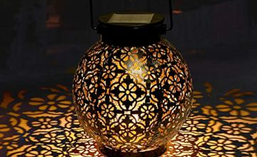 Solar Lantern Outdoor GolWof Garden Lantern LED Solar Light Outdoor Waterproof Solar Lamp Decorative Hanging Lantern Solar Powered Lantern Portable for Patio Yard Outside Inside Festival Chrismas