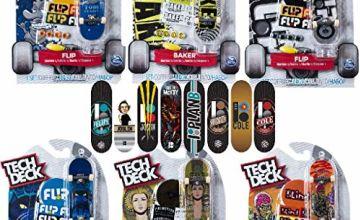 Tech Deck 6028846 Tech Deck-6028846-Finger Skate Pack X1, Various Colours