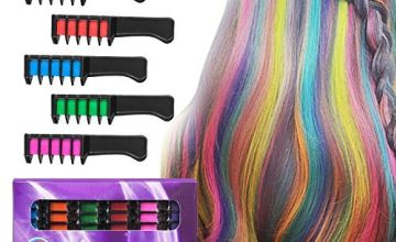 BATTOP 6PCS Hair Chalk Comb Temporary Bright Hair Color Cream for Girls Kids Gifts