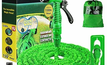 Running Bulls 150ft Garden Hose Expandable:Expanding Magic Hose With Multiple Spray Settings/Hose Hook/Tap Connector,Lightweigh & Durable Felxible HosePipes Ideal for Garden Yard .Car Playground