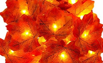 christmas garland leaves autumn decorations halloween decor home party fireplace garlands xmas with lights indoor outdoor leaf fairy lights copper wire led decor fall decorations pumpkins thanksgiving