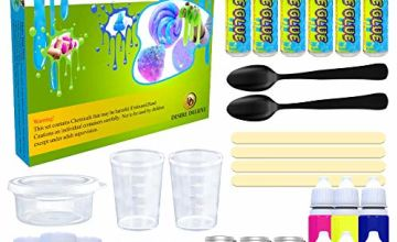 Desire Deluxe Slime Making Kit DIY Factory Complete Games Set Toys Science for Kids Age 4 5 6 7 8 9 Year Old Slime Lab Activator Ingredient Educational Learning Activity Toy for Boys and Girls Present