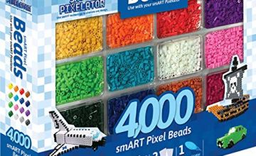 Smart Pixelator – Beads, Replacement of 4000 Pieces, for Children and Girls Ages 6+, Multi-Colour, (Famous 700015418)