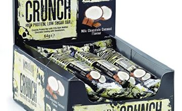 Save on Warrior Crunch Protein Bar - High Protein Snack - Milk Chocolate Coconut - 12x64g Bars and more