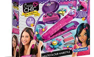 Clementoni 15225 Crazy Chic Hair Straightener, Unisex-Child, Multi-Coloured