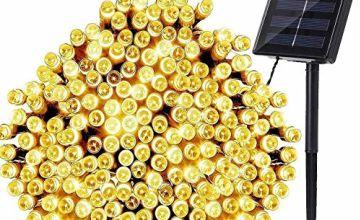 NEXVIN 72ft 200 LED Solar Fairy String Lights Outdoor