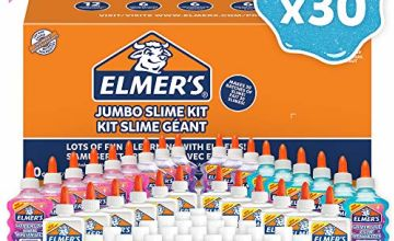 Save on Elmer's Glue Slime Class Pack with Glitter Glue (18 Bottles), Clear Glue (12 Bottles) & Glue Slime Activator (30 Bottles), 60 Count– Makes 30 Batches of Slime! and more