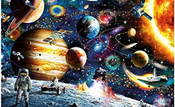 HUADADA Space Puzzle Jigsaw Puzzles for Grown Ups 1000 Piece Jigsaw Puzzles for Adults Planets in Space Jigsaw Floor Puzzle