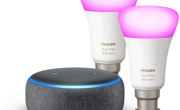 Echo Dot + Philips Hue Colour 2-pack for £61.99
