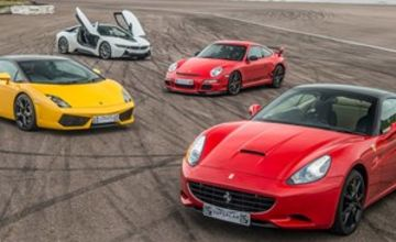 Four Supercar Driving Blast with Free High Speed Passenger Ride