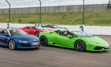 Four Supercar Thrill with Free High Speed Passenger Ride