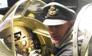 WW2 Spitfire and Messerschmitt Flight Simulator Extended Experience for Two