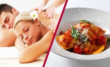 Blissful Spa Day with 3 Course Dining and Wine for Two
