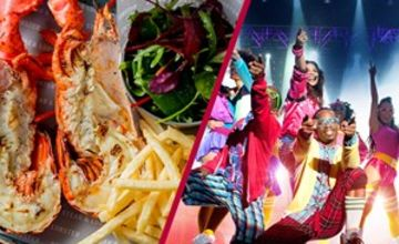Stalls or Dress Circle Theatre Show and Dining for Two at Steak and Lobster