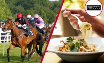 Lingfield Raceday and Three Course Meal with Wine for Two at Prezzo