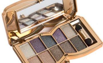 Glitter Nude Eyeshadow Palette + 10-Piece Brush Set!