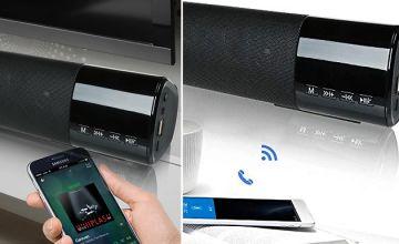 Wireless Hi-Fi Bluetooth Soundbar Speaker with Clock - 5 Colours